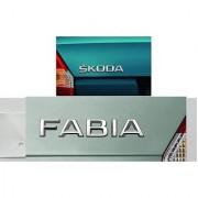 Skoda new FABIA Monogram Emblem Chrome EMBLEM Skoda Car Monogram Logo Emblem COMBO