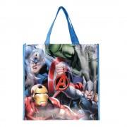 Пазарска чанта Avengers червена