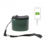 Outdoor Portable Mano Poder Dinamo Manivela De Emergencia Cargador USB De Carga (verde)