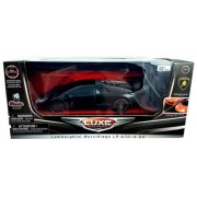 "Luxe Radio Control Black Lamborghini Murcielago LP 670-4 SV, 7"" Full Fuction Radio Controlled, Gloss"