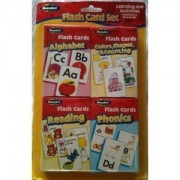 Flash Card Set - Alphabet, Reading, Phonics, Colors, Shapes & Counting