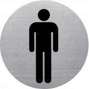 Információs tábla, rozsdamentes acél, HELIT, férfi mosdó (INH6270900)