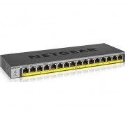 Switch NetGear ProSAFE GS116PP, 16 x 10/100/1000 Mbps Gigabit Ethernet POE/POE+ 183W, Desktop/Wall-mount/Rackmount, ProSAFE Lifetime Protection