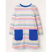 Mini Robe fun en jersey avec poches STR Fille Boden, Multi - 6-7a