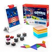 Osmo Genius Starter Kit para iPad (Nueva versión) Edades 6-10 Matemática, deletreo, resolución de problemas, creatividad, y más (la base de está incluida)