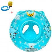 Infant Baby Kids Toddler Inflatable Swimming Swim Ring Float Seat Boat Pool Bath Handle Safety Seat (Blue)