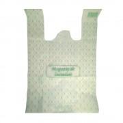 Pungi Biodegradabile Albe, Model Imprimat 30x9x60 cm, 50 Buc/Bax - Ambalaje Ecologice