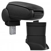 [pro.tec]® Lakťová opierka pre Fiat 500 - lakťová opierka - s odkladacím priestorom - tkanina - čierna