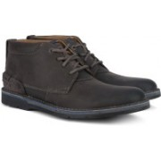 Clarks Edgewick Mid Grey Nubuck Boots For Men(Grey)