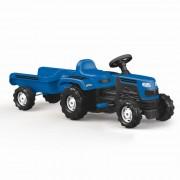 Tractor cu remorca incapatoare, 52 x 144 x 45 cm, maxim 35 kg, Albastru