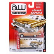 1958 Plymouth Fury, Copper Glow - Auto World AW64042A - 1/64 Scale Diecast Model Toy Car