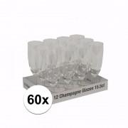 Merkloos Prosecco glazen 60 stuks - Champagneglazen