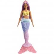 Barbie Dreamtopia Muñeca Sirena Con Pelo Rosa Y Top Amarillo Mattel