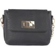 Bebe Women Casual, Formal, Festive Black Genuine Leather Sling Bag