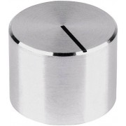 Buton aparat de masura Mentor, neted, aluminiu, Ø ax 6 mm, tip 522.6191
