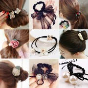 korean fashion women girls elastic hair rubber bands ties headwear ring rope accessories for women scrunchie ornaments wholesale