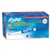 Low Odor Dry Erase Marker, Fine Point, Blue, Dozen
