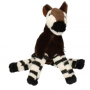 Nature Plush Planet Pluche bruine okapi knuffel 18 cm speelgoed