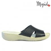Papuci dama din piele naturala 2642-1/Negru/Dita