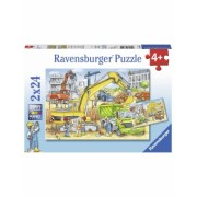 Puzzle Muncind Din Greu, 2X24 Piese Ravensburger
