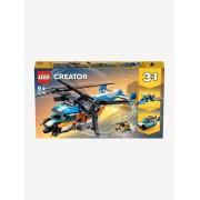 Lego 31096 O helicóptero de duas hélices, da Lego Creator amarelo claro liso com motivo