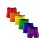 Muchachomalo 6+1 Solid - Boxershorts - Rainbow - XL