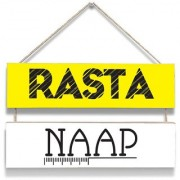 100yellow Rasta Naap Wall Door Hanging Board Plaque Sign For Wall Dcor (7 X 12 Inch)