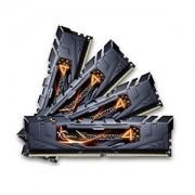 Memorie G.Skill Ripjaws 4 Black 32GB (4x8GB) DDR4 3000MHz CL15 1.35V Quad Channel Kit, F4-3000C15Q-32GRK