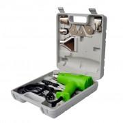 vidaXL Пистолет за горещ въздух, зелен