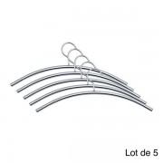 Edimeta Lot de 5 Cintres Design acier gris alu