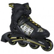 Oxer Patins Oxer Basic - In Line - Fitness - ABEC 7 - Adulto - PRETO