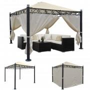 Pergola Belagua, Garten Pavillon, stabiles 10cm Luxus-Alu-Gestell, 3x3m ~ Variantenangebot