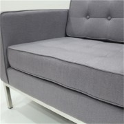 Replica Florence Knoll-3-seater in Grey Soft Cashmere Fabric