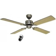 Casafan Ceiling Fan, Telesto Bn, 132 Cm, Silent, Blades Wenge / Maple And Brushed Chrome, Remote Control, Casafan