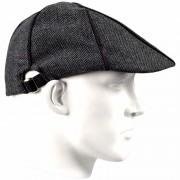 Bernardino Linnen flat cap antraciet voor heren