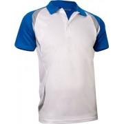 Avento Sportpolo Heren Wit/Blauw Maat L