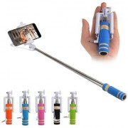 Pocket Size Mini Selfie Stick with Aux cable for All Smart Phones