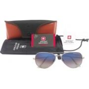 Swiss Military Aviator Sunglasses(Blue)