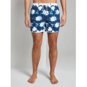 TOM TAILOR Badshorts in batik patroon, navy/multicolor, M