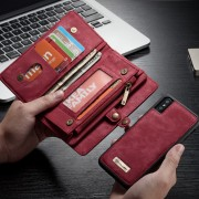 CASEME Vintage Split Leather Detachable 2-in-1 Multi-slot Wallet Phone Cover for iPhone Xs 5.8 inch - Red