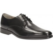 Clarks Amieson Lace Black Leather Lace Up For Men(Black)