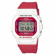 reloj digital casio g-shock DW-5600TB-4A-rojo + blanco