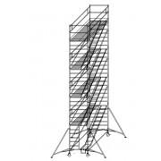 Günzburger Steigtechnik Günzburger Rollgerüst mit Schrägaufstiegen 1,35x2,45m Plattform, 10,40m AH