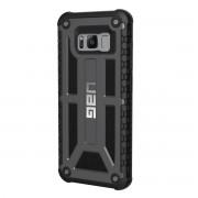 Urban Armor Gear Monarch Graphite - удароустойчив хибриден кейс за Samsung Galaxy S8 (черен)