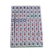 Portable Mini 144 Mahjong Tile Set Travel Board Game Chinese Traditional Mahjong Games Light Weight