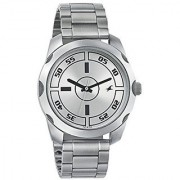 Fastrack Quartz Silver Dial Mens Watch-3123SM02