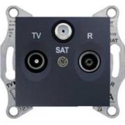 SEDNA TV-R-SAT aljzat végzáró 1 db Grafit SDN3501370 - Schneider Electric