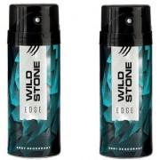 Wild Stone EDGE Body Spray - For Men (150 ml each) pack of 2