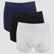 MP Men's Sport 3 Pack Boxers - Black/White/Navy - S