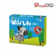 Colectia Animale Salbatice - Zebra - Puzzle 3D - 13 piese